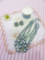 Beads Necklace&Earring Green