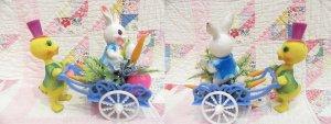 画像3: Easter Ornament Bunny Wagon