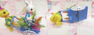 画像5: Easter Ornament Bunny Wagon