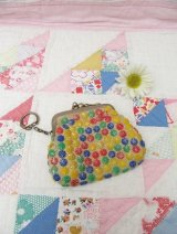 Colorful Plastic Beads Coinpurse+Chain