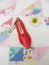 Flat Shoes Coin Purse Red