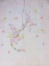 Twin Bunny Embroidery Quilt