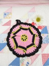 Pot Holder Pink&Black
