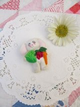 White Bunny Vegetable Pins