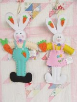 Twin Bunny Decor Polyester